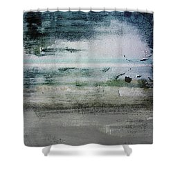 Boardwalk Blues 2- Art By Linda Woods Shower Curtain by Linda Woods