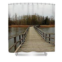 Boardwalk Shower Curtain by Debbie Oppermann