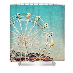 Boardwalk Ferris Wheel Shower Curtain
