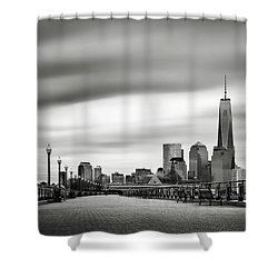 Boardwalk Into The City Shower Curtain