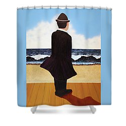 Boardwalk Man Shower Curtain