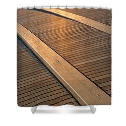 Boardwalk Shower Curtain by Sebastian Musial