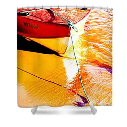 Boat Abstract Shower Curtain by Avalon Fine Art Photography