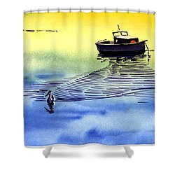 Boat And The Seagull Shower Curtain