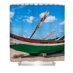 Boat Ashore Shower Curtain