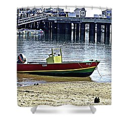 Boat At The Beach Provincetown Shower Curtain