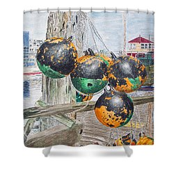 Boat Bumpers Shower Curtain