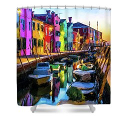Boat Canal Shower Curtain