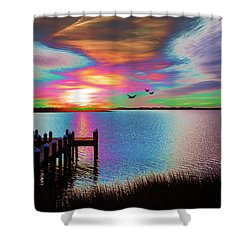 Boat Dock 2 Shower Curtain