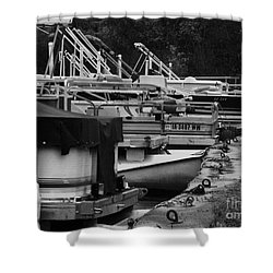 Shower Curtain featuring the photograph Boat Dock by J L Zarek