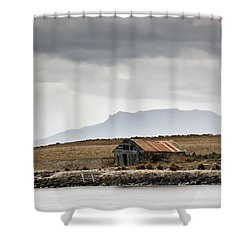 Shower Curtain featuring the photograph Boat House by Nicholas Blackwell