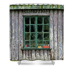 Boat House Window Shower Curtain