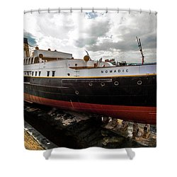 Boat In Drydock Shower Curtain