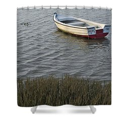 Boat In Ria Formosa - Faro Shower Curtain