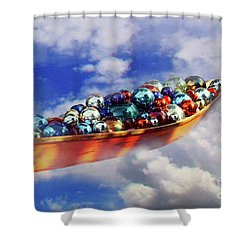 Boat In The Clouds Shower Curtain
