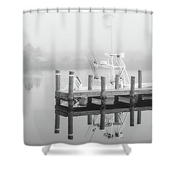 Shower Curtain featuring the photograph Boat In The Sounds Alabama  by John McGraw