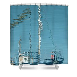 Shower Curtain featuring the photograph Boat Of Ripples by Wendy Wilton