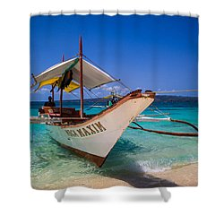 Boat On Boracay Island Shower Curtain