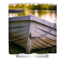 Boat On Land Shower Curtain