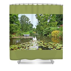 Shower Curtain featuring the photograph Boat On The Lake by Gill Billington