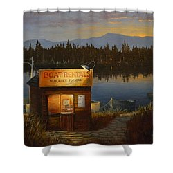 Boat Rentals Shower Curtain