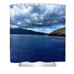 Boat View 3 Shower Curtain