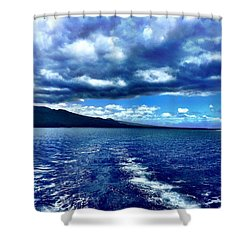 Shower Curtain featuring the photograph Boat View by Michael Albright