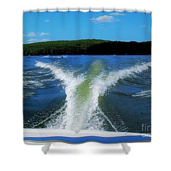 Boat Wake Shower Curtain