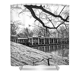 Boathouse Central Park Shower Curtain