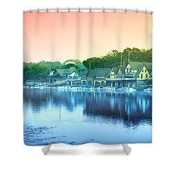 Boathouse Row Shower Curtain by Bill Cannon