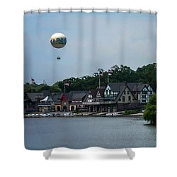 Boathouse Row With Zoo Balloon Philadelphia Shower Curtain
