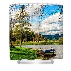 Boating On Golden Pond 254  Shower Curtain