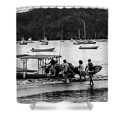 Boats And Boards  Shower Curtain