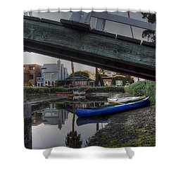 Boats And Bridge Shower Curtain