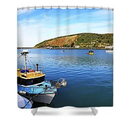 Shower Curtain featuring the photograph Boats At Friendly Bay by Nareeta Martin