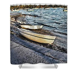 Boats At The Bay Shower Curtain