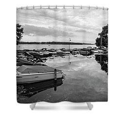 Boats At Wayzata Shower Curtain