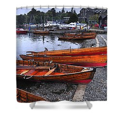 Boats At Windermere Shower Curtain