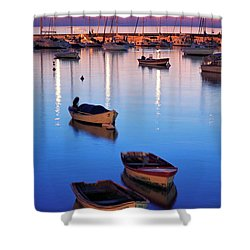 Shower Curtain featuring the photograph Boats by Bernardo Galmarini