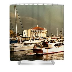 Shower Curtain featuring the photograph Boats Catalina Island California by Floyd Snyder