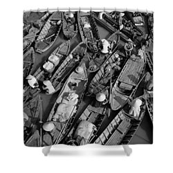 Boats, Hoi An, Vietnam Shower Curtain by Huy Lam