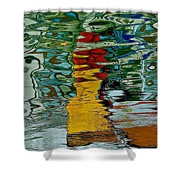 Boats In A Reflection Shower Curtain