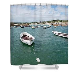 Boats In Habour Shower Curtain
