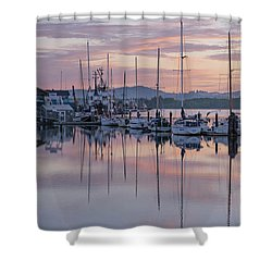Boats In Pastel Shower Curtain by Suzy Piatt