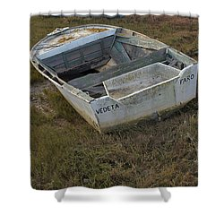 Boats In Ria Formosa Shower Curtain