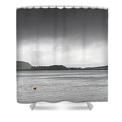 Boats Moored In The Harbor Oban Shower Curtain by John Short