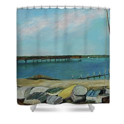 Boats Of Salt Run Too Shower Curtain