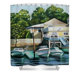 Boats On Crossbay Blvd. Shower Curtain