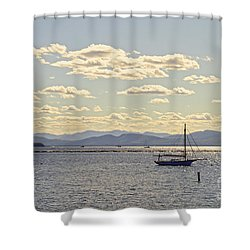 Boats On Lake Champlain Vermont Shower Curtain