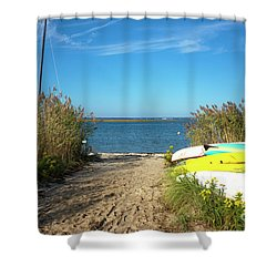 Shower Curtain featuring the photograph Boats On Long Beach Island by John Rizzuto